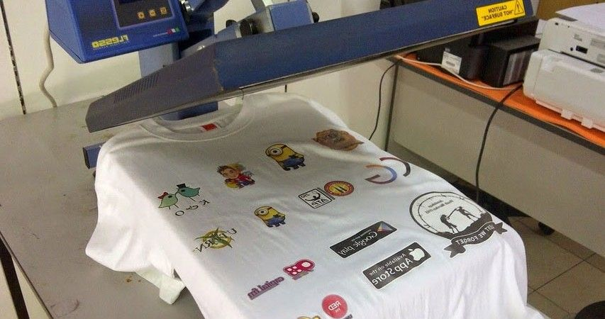 The Making of Custom Printed T-Shirts machine