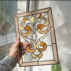 large stained glass window hangings