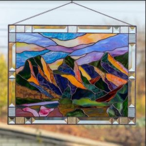 stained glass hanging window decor